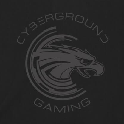 Felpa cappuccio e zip ufficiale Cyberground Gaming® - BLACK
