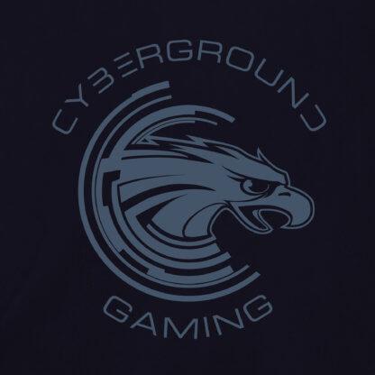 Felpa cappuccio e zip ufficiale Cyberground Gaming® - NAVY