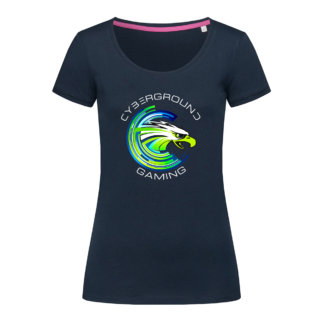 T-shirt donna Cyberground Gaming - Marina Blue